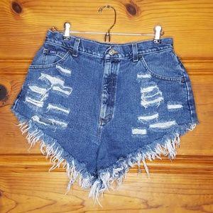 Vintage Lee High Waisted Mom Denim Shorts Size 28